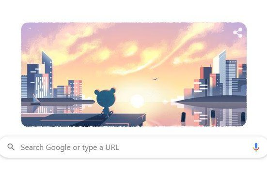 Google's Froggy is PONDering his New Year's resolutions. Photo courtesy of Google Doodle