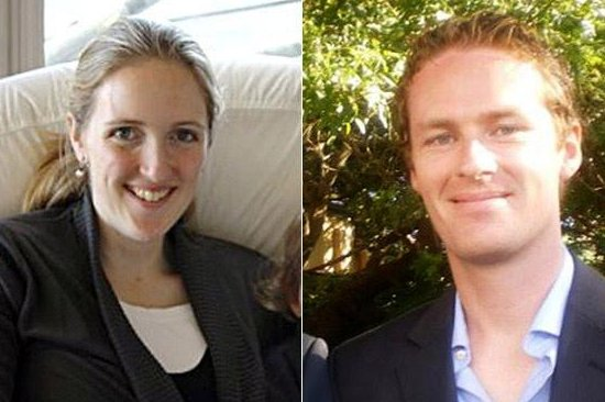 Katrina Dawson, left, and Tori Johnson were hostages killed after a 17-hour standoff in Australia. Family photos courtesy AAP.