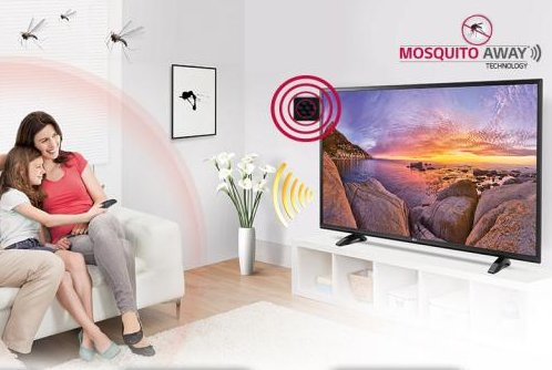 A new line of LG TVs being sold in India include a component designed to use ultrasonic technology to ward off mosquitoes. Photo courtesy of LG