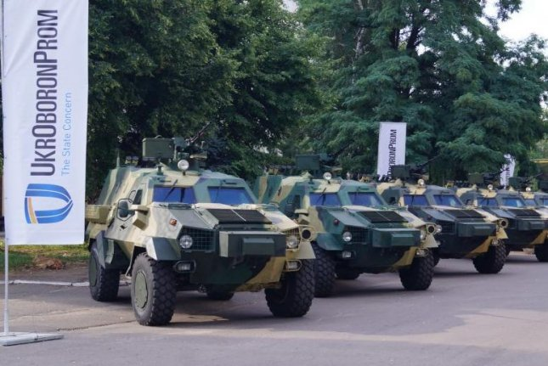 The Ukrainian military has taken custody of 10 Dozor-B armored vehicles, the Ukroboronprom defense concern announced Wednesday. Photo courtesy Ukroboronprom