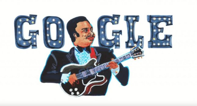 Google is paying homage to the legendary B.B. King with a new Doodle. Image courtesy of Google
