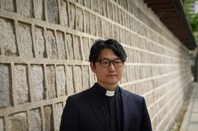 The Rev. Lee Dong-hwan was suspended for two years by the Korean Methodist Church for performing a blessing at an LGBT festival in 2019, but he has appealed the ruling and hopes to bring change to the church. Photo by Thomas Maresca/UPI