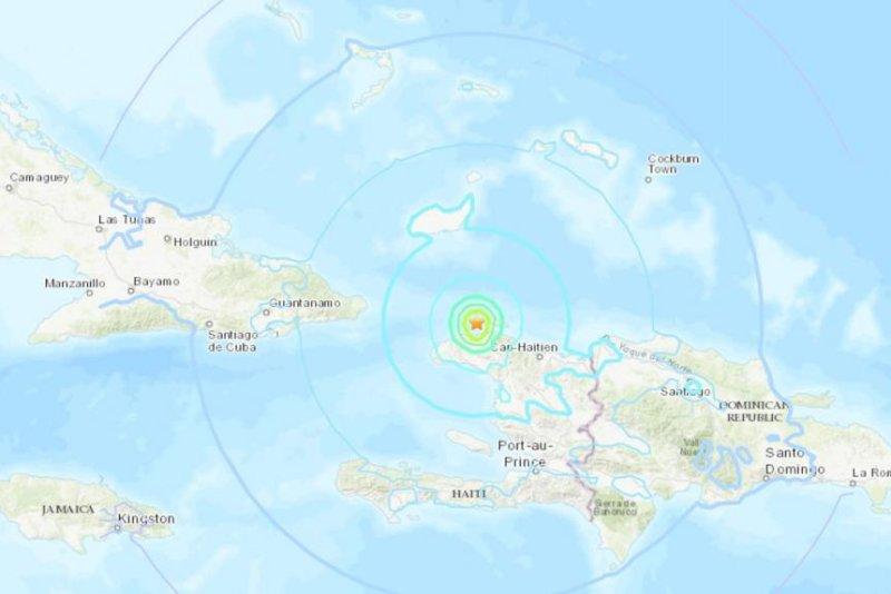 59 Magnitude Earthquake Shakes Northern Haiti Killing At Least - Map-of-haiti-and-us