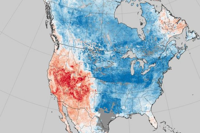 NASA map reveals a continent of two extremes -- temperature extremes ...