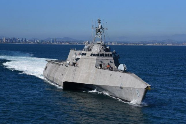 After leaving San Diego and crossing the Pacific Ocean, the USS Montgomery arrived in the Philippines on Friday, the first forward deployment of a littoral combat ship in 19 months. Photo courtesy of the U.S. Navy