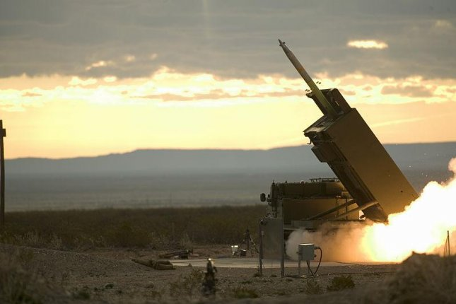 Lockheed Martin's Guided Multiple Launch Rocket System is test fired. Photo by the U.K. Ministry of Defense