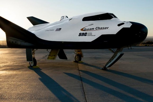 The Dream Chaser space plane sits on the runway at NASA's Armstrong Flight Research Center in California in September 2017.Photo courtesy of Sierra Nevada Corp.