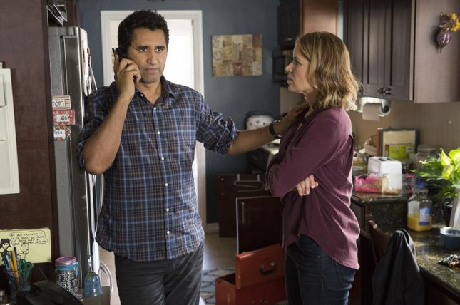 Cliff Curtis and Kim Dickens in Fear the Walking Dead. AMC