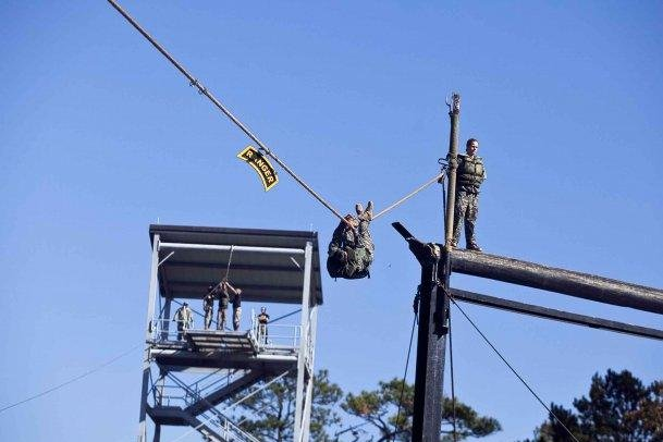 An obstacle at Ranger School in Fort Benning, Ga. (U.S. Army photo)