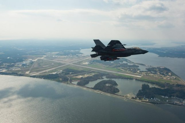 The final systems development and demonstration test flight of F-35 aircraft CF-2 was piloted by BAE test pilot Peter Wilson, April 11, 2018, at Naval Air Station Patuxent River, Maryland. Photo by U.S. Department of Defense/Lockheed Martin