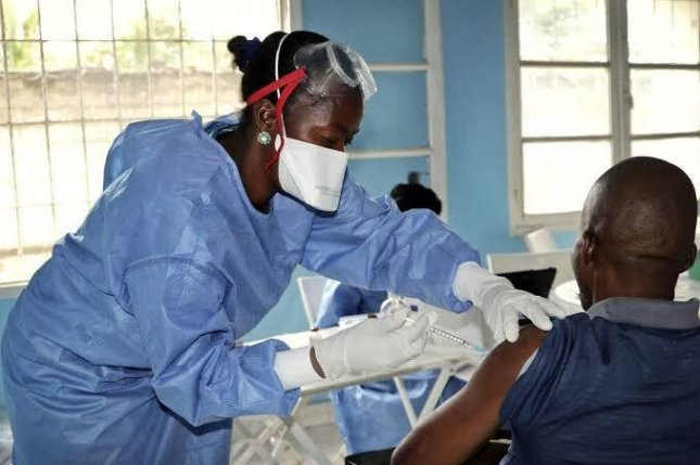 The Uganda Ministry of Health said that in preparation of a possible outbreak in the country, it has vaccinated nearly 4,700 health workers at 165 medical facilities against the disease. Photo courtesy of Uganda Ministry of Health/Twitter