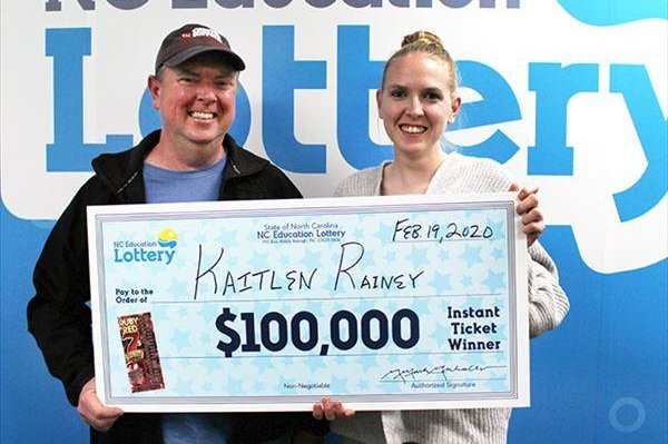 A North Carolina woman collected a $100,000 lottery jackpot thanks to some advice from her granddad. Photo courtesy of the North Carolina Education Lottery