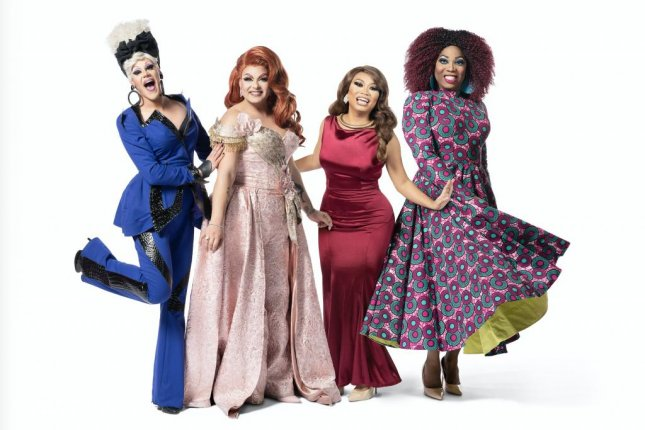 From left to right, Thorgy Thor, Alexis Michelle, Jujubee and Bebe Zahara Benet of TLC's Drag Me Down the Aisle are on a mission to plan a wedding in Amish country, Pennsylvania. Photo courtesy of TLC