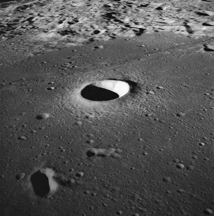 Impact crater on moon. Credit: NASA
