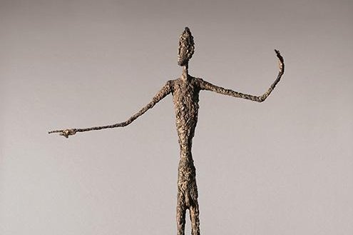 """Alberto Giacometti's """"L'homme au doigt (Pointing Man)"""" could fetch the highest price ever paid for a sculpture at auction with an estimated value of $130 million. Photo courtesy Christie's auction house"""