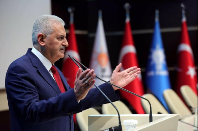 Binali Yildirim, who became Turkey's prime minister in May, on Wednesday said he hopes to cultivate good relations with regional powers, specifically Syria and Iraq, as a method to increase peace. In the past year, Turkey has been struck by devastating militant attacks from both the Islamic State and the Kurdistan Workers' Party, or PKK, rebel group. Photo courtesy of Turkish Prime Minister Binali Yildirim