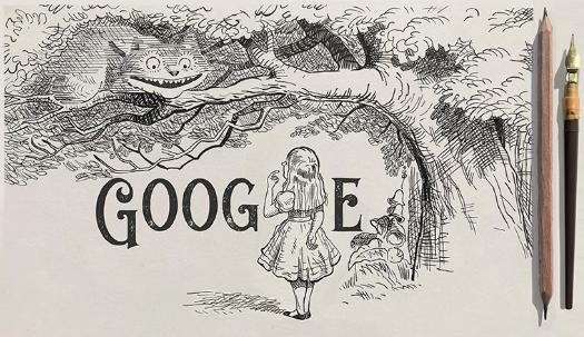 Google is paying homage to illustrator and artist John Tenniel with a new Doodle. Image courtesy of Google