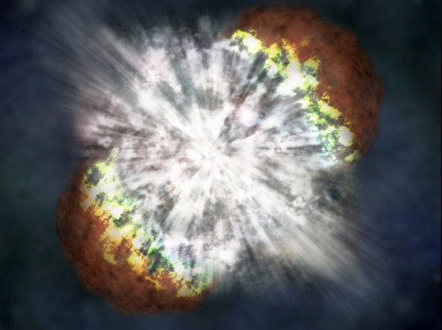 An artist's impression of the explosion of a supernova. Credit: NASA