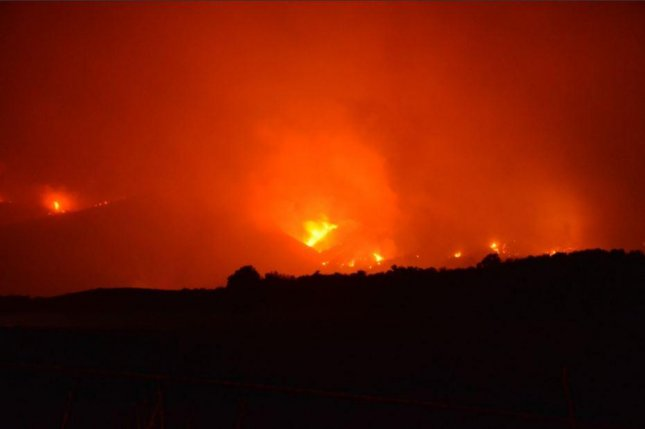 The Thomas Fire had spread to 259,000 acres and was 40 percent contained, according to Cal Fire. Photo courtesy of Cal Fire on Twitter was near Highway 150 and Highway 126 north of Santa Paula in Ventura County.