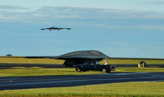 B-2 bombers, pictured at Lajes Field, Azores, on March 22, this week concluded their participation in a Bomber Task Force mission across Europe. Photo by Tech. Sgt. Heather Salazar/U.S. Air Force