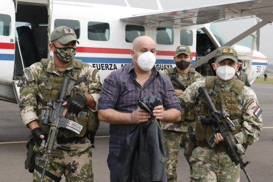 Paraguayan authorities Tuesday morning arrested Kassem Mohamad Hijazi as the United States sanctioned him over perpetrating corruption.Photo courtesy of SENAD Paraguay/Twitter