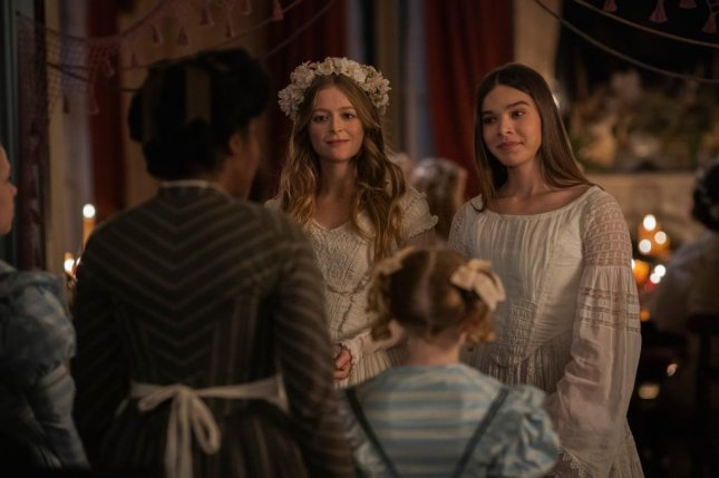 """Anna Baryshnikov (L) and Hailee Steinfeld can be seen in Season 2 of """"Dickinson,"""" streaming Friday on Apple TV+."""