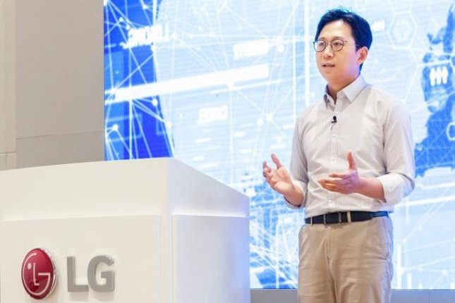 LG AI research chief Bae Kyung-hoon speaks during an online event Monday announcing LG's plan to build a general-purpose, mega-scale artificial intelligence. Photo courtesy of LG Electronics