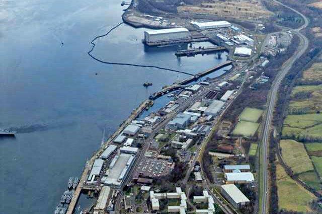 The Royal Navy submarine base at Faslane, Scotland. Photo courtesy of U.S. Navy