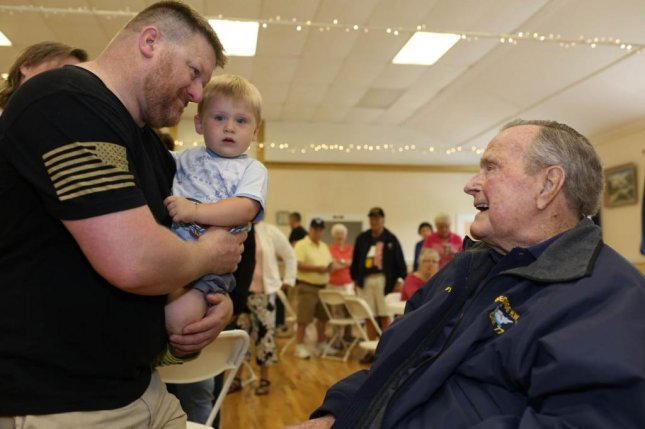 Former President George H.W. Bush was hospitalized on Sunday for after experiencing low blood pressure and fatigue, the day after he attended the Post 159 monthly pancake breakfast in Kennebunkport, Maine. Photo courtesy Evan Sisley/Office of George H. W. Bush