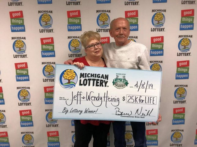 A Michigan man said he had to fish his jackpot-winning Lucky for Life lottery ticket out of the trash when he realized he had incorrectly identified it as a loser. Photo courtesy of the Michigan Lottery