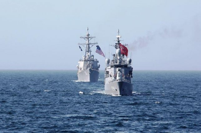 Ships of the U.S. and Turkish navies conducted a one-day joint exercise on the Black Sea this week, the U.S. Navy announced. Photo courtesy of Turkish Defense Ministry