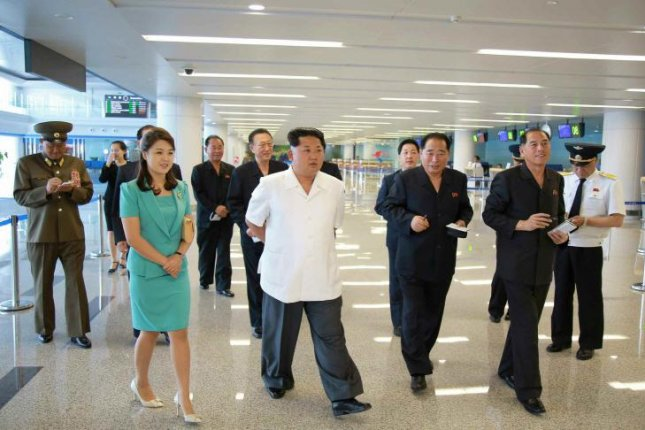 Kim Jong Un recently toured the completed second terminal of Pyongyang's Sunan Airport, according to North Korea's state newspaper. Photo by Rodong Sinmun/Yonhap