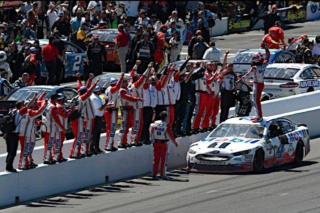 California driver Kevin Harvick claimed his first win of the 2017 Monster Energy NASCAR Cup Series season in his home state Sunday by winning the Toyota/Save Mart 350 at Sonoma Raceway. Photo courtesy of Ford Performance/Twitter