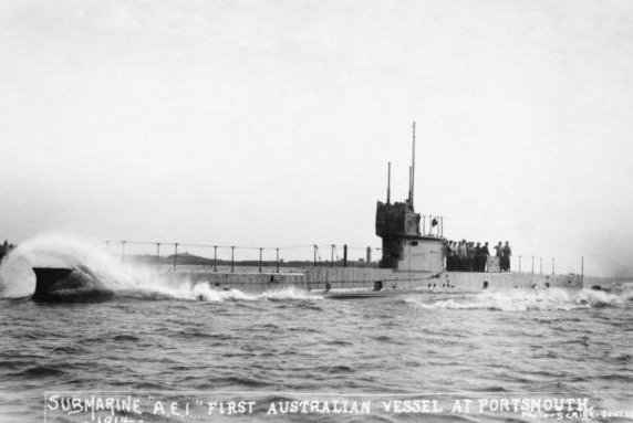 Australia's HMAS AE1 submarine, which disappeared in 1914, has been found by search crews near New Guinea, officials said. Photo courtesy Australia War Memorial/Twitter