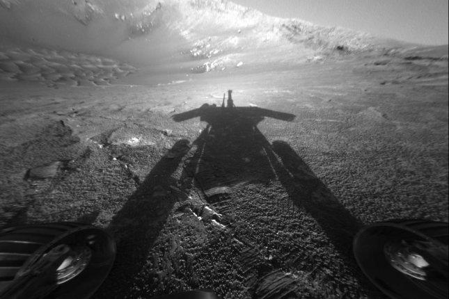 During Opportunity's 15-year mission, the rover logged 28 miles and snapped thousands of images, including dozens of selfies. Photo by NASA/JPL-Caltech