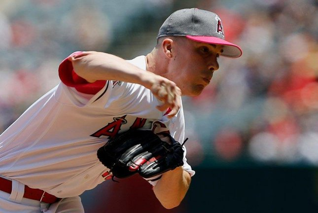 Alex Meyer shut down the Tigers in a 4-1 victory on Sunday. Photo courtesy Los Angeles Angels/Twitter