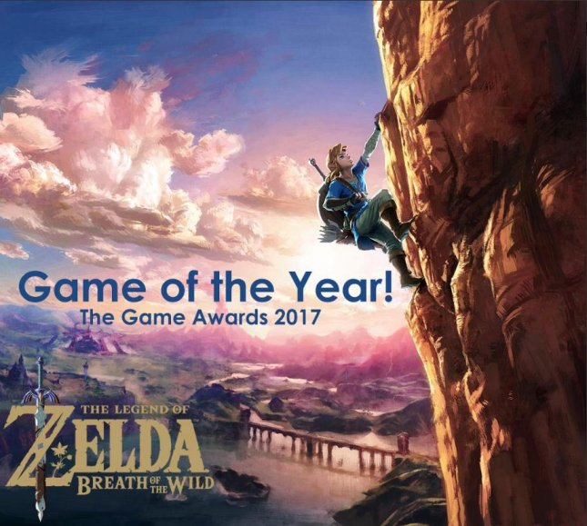 The Legend of Zelda: Breath of the Wild won the Game of the Year Award Thursday at The Game Awards 2017. Photo courtesy of Nintendo/Twitter