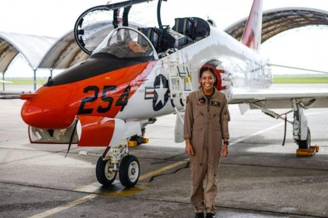 Lt. Madeline Swegle completed tactical air aviator training and later this month will become the U.S. Navy's first black female fighter pilot, the Navy announced this week. Photo courtesy of U.S. Navy