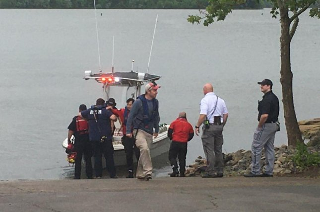 One person has died after a small plane crashed in a Tennessee lake Saturday. Image via Rutherford County Fire Rescue/Twitter