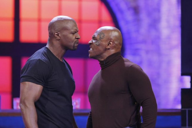 Terry Crews and Mike Tyson face off on Lip Sync Battle. Spike TV