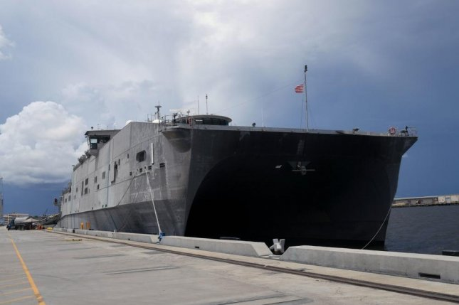 The expeditionary fast transport vessel USNS Spearhead is similar to the USNS Burlington christened on Saturday. Photo by Mass Communication Specialist 1st Class Jeremy Starr/U.S. Navy