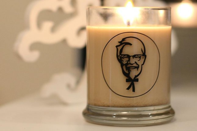 KFC in New Zealand is offering candles that smell like fried chicken as prizes in a Facebook contest. Photo by KFC/Facebook