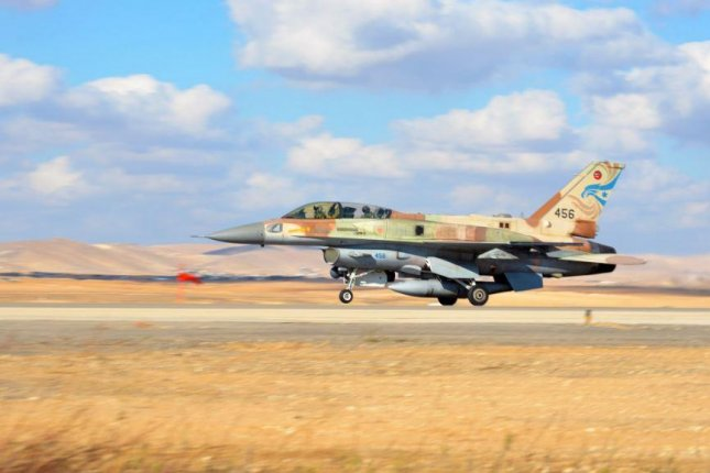 The Israeli air force carried out bombings in Syria on Friday. The Syrian military said several of its sites were targeted near Palmyra, adding that it shot down an Israeli aircraft. Israel said none of its aircraft were compromised. Photo courtesy of Israeli Air Force