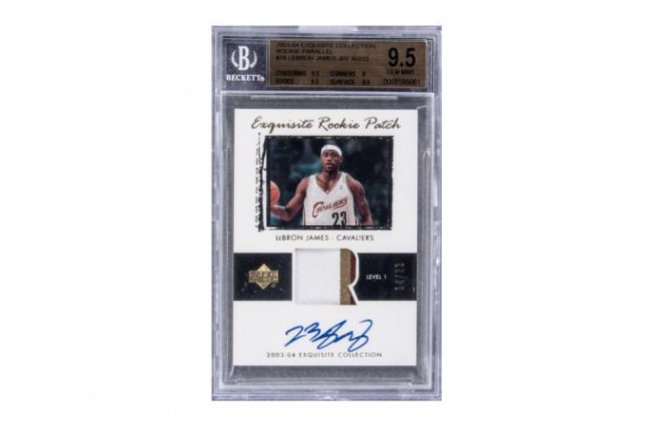 A 2003-2004 LeBron James Upper Deck rookie card sold for nearly $2 million Sunday at GoldinAuctions.com. Photo courtesy of Goldin Auctions