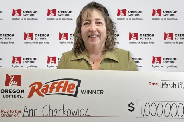 An Oregon woman said rescuing a toddler from traffic gave her the karma to win a $1 million lottery jackpot. Photo courtesy of the Oregon Lottery