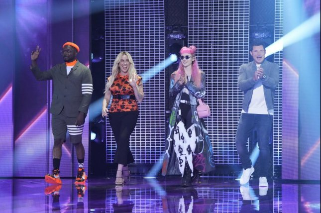 From left, will.i.am, Alanis Morrissette, Grimes and Nick Lachey judge the singing competition Alter Ego on Fox. Photo courtesy of Fox