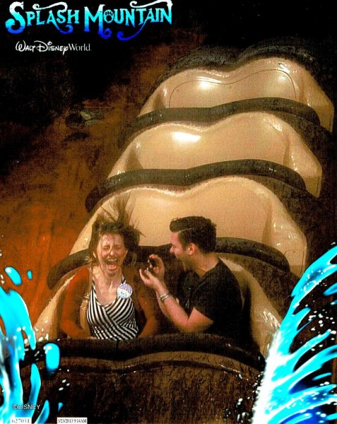 In 2013 Patrick De Nicola proposed to his wife Annie Dee Maria on Disney's Splash Mountain ride. The ride photo later went viral after he recently posted it to photo sharing site imgur.