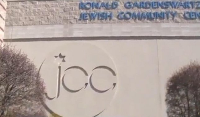 In the fourth round of calls this year, 11 Jewish community centers in 7 states -- including the center in Albuquerque, pictured -- received hoax threats on Monday about explosive devices on their property. In each case, the centers were evacuated, searched and found to be clear. Photo by KOAT-TV