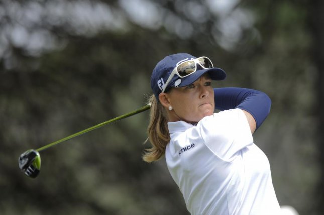 Katherine Kirk holds a four-shot lead at the LPGA Classic. Photo by Lukas Coch/EPA