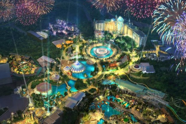 Universal Studios Orlando Resort will be introducing a fourth theme park, titled Epic Universe. The company released concept art for the area, shown here. Image courtesy of Universal Orlando Resort